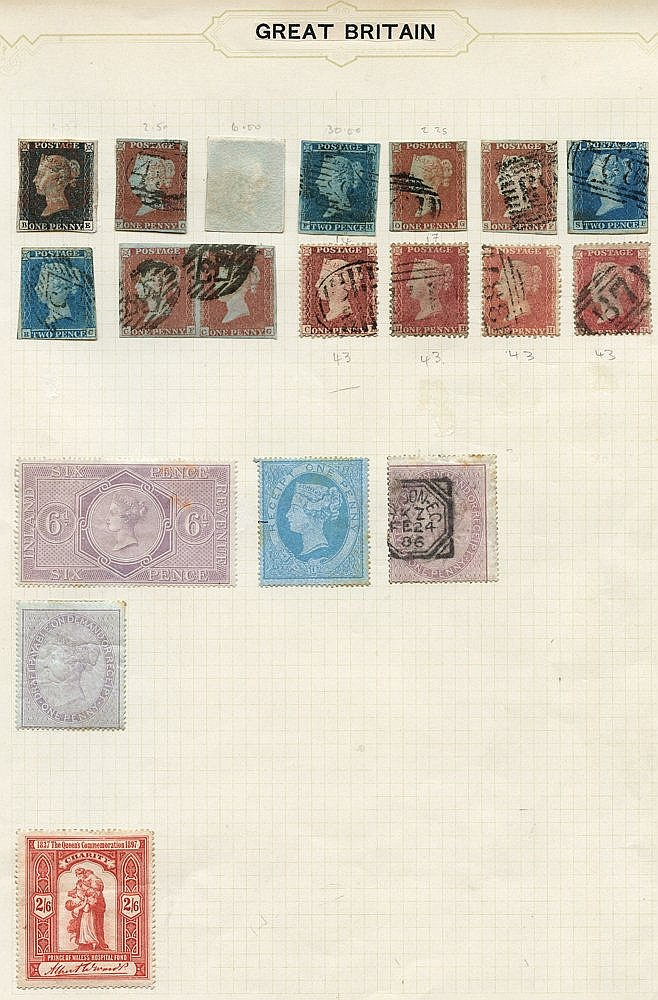 BRITISH COMMONWEALTH QV-KGVI collection housed in a Simplex album
