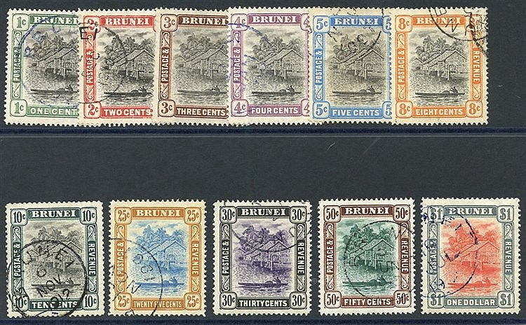 1907-10 MCCA set, good to VFU, SG.22/33. (11) Cat. £300