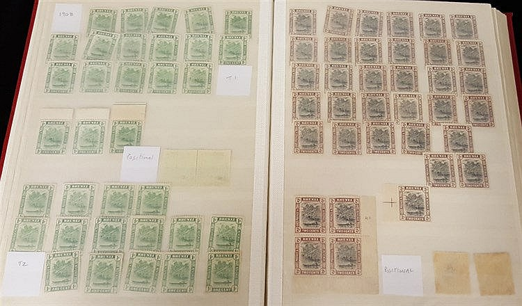 1907-51 River Canoe issues M, quantity of approx. 500 in a stock