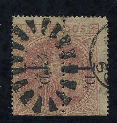 1878 1d Provisional - an unsevered pair comprising Types A & B re