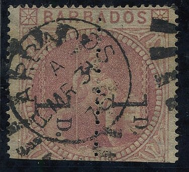 1878 1d Provisional - an unsevered pair reading downwards, clearl