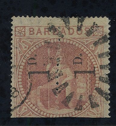 1878 1d Provisional - an unsevered pair reading upwards, cancelle