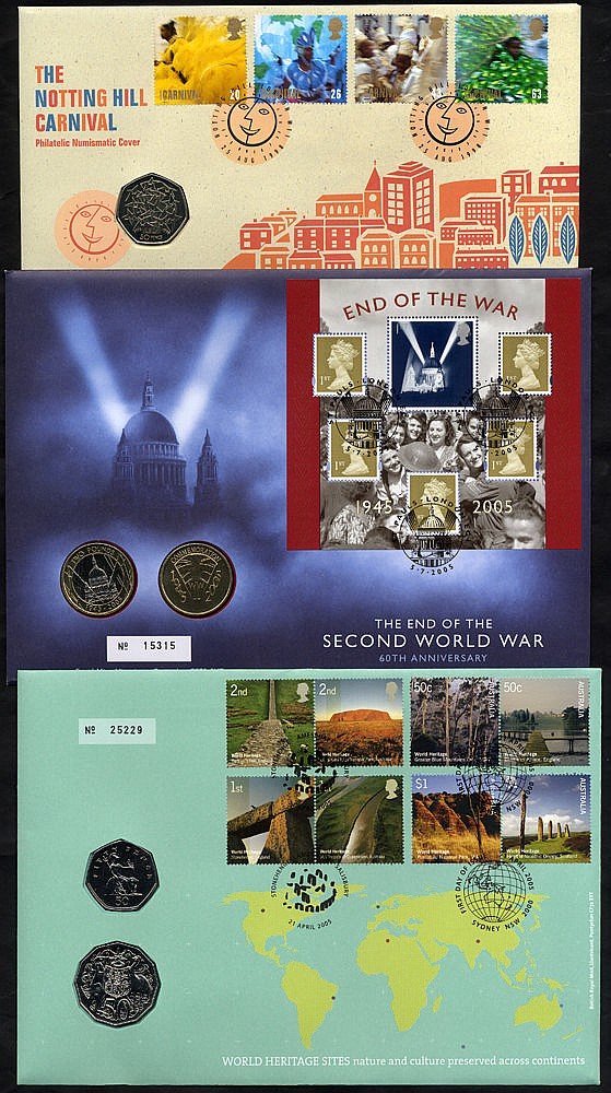 COIN COVERS 1995-2009 collection housed in four albums comprising