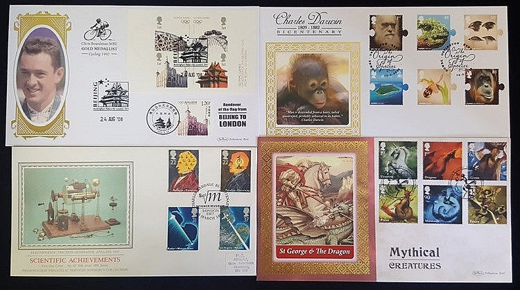 1986-2009 SILK FDC STOCK comprising mainly Sotheby collection or