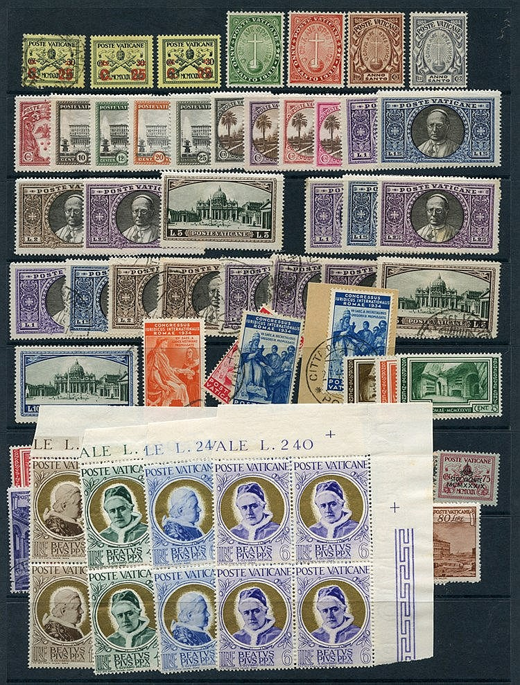 1929-95 collection of M & U issues on stock leaves containing 192