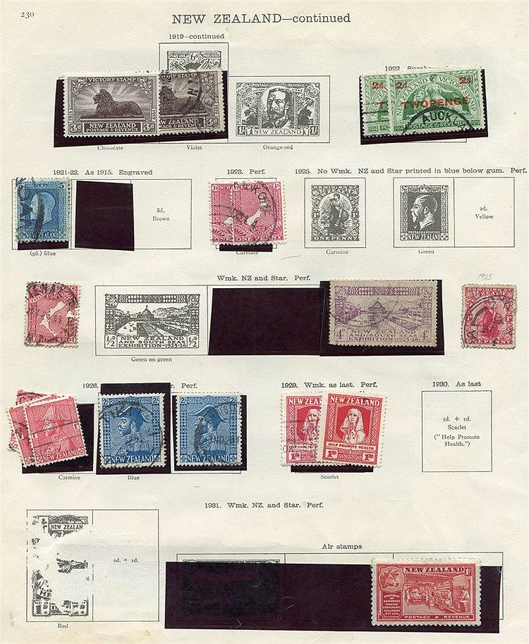 1873-1936 M & U remaindered collection on printed leaves incl. 19