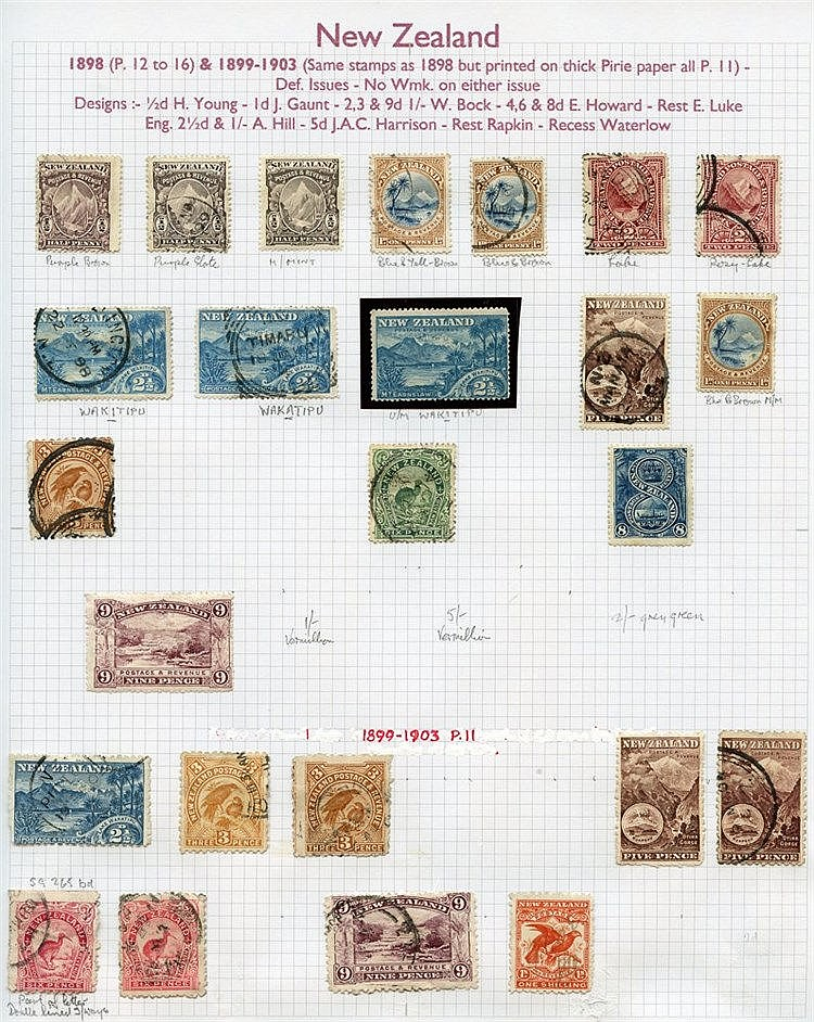 1855-1967 M & U collection of 1196 stamps in an Alpha Major album