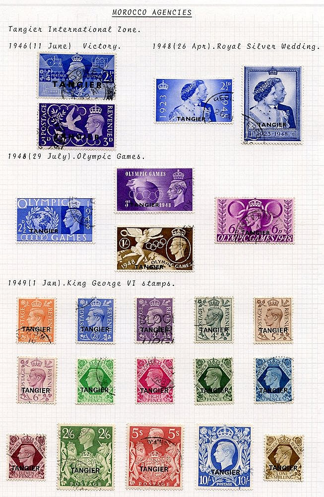 1936-51 KGVI VFU collection incl. Spanish 1948 Wedding, Tangier 1