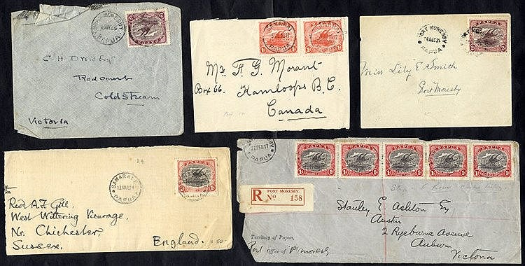 1917-24 covers (4) & fronts (2) addressed to UK, Canada & Austral
