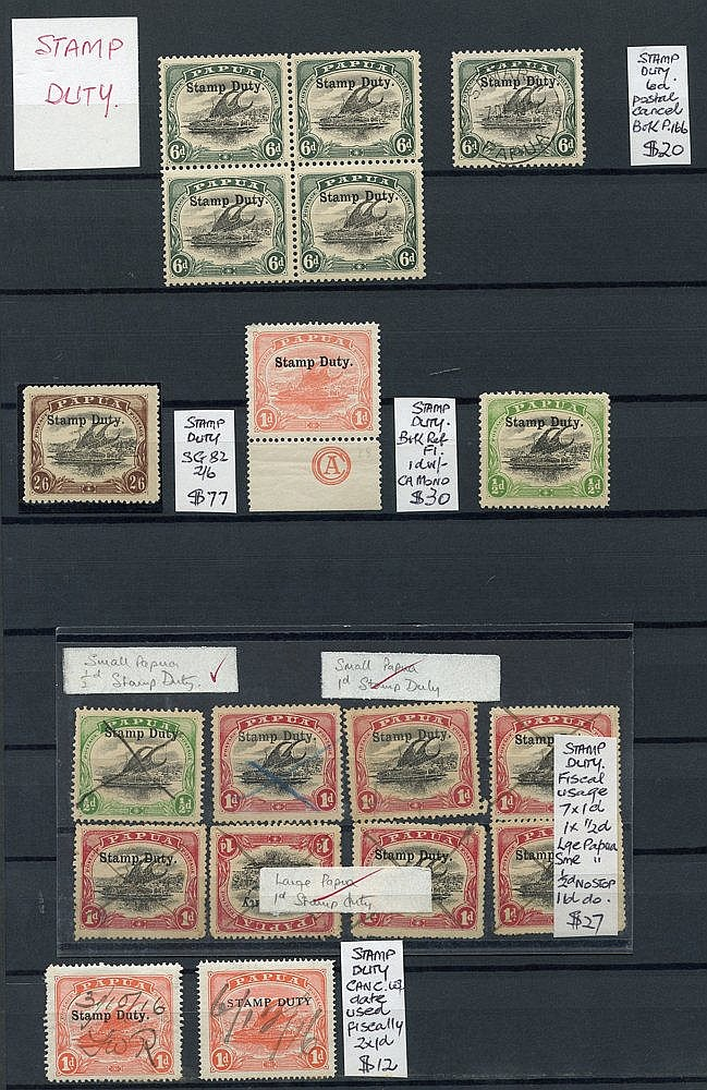 1907-10 duplicated range of printing flaws with 1d (20) SG.49, ½d