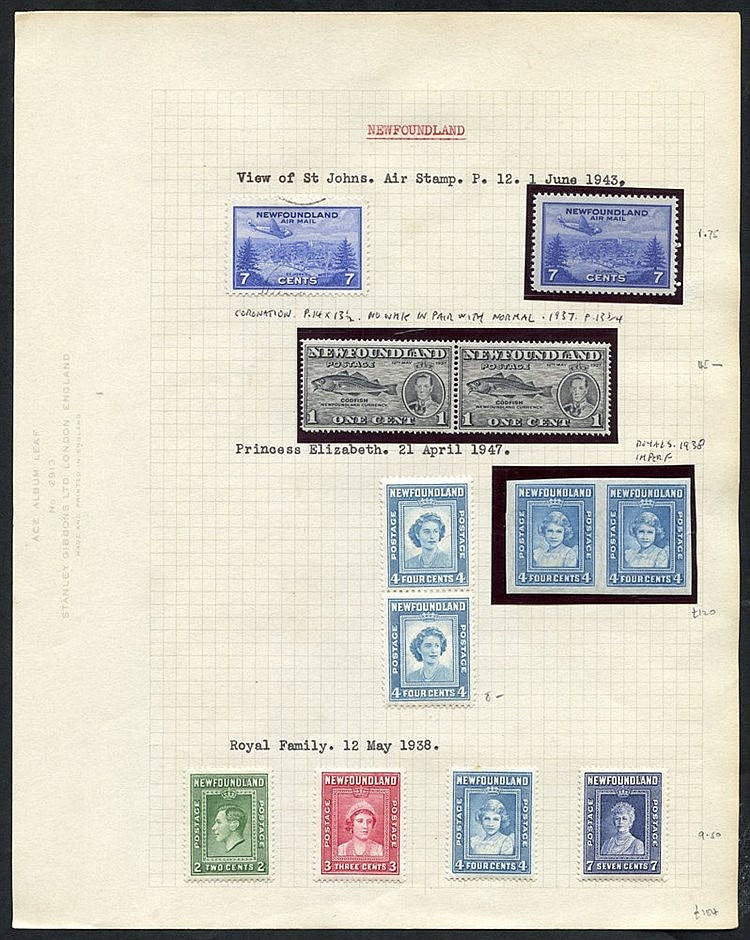1937-47 M range on leaves incl. 1937 Coronation Long set with per