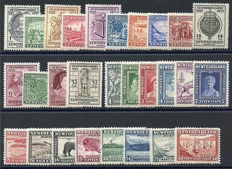 1933 Humphrey Gilbert set, M (20c creased), SG.236/249, 1941-44 P
