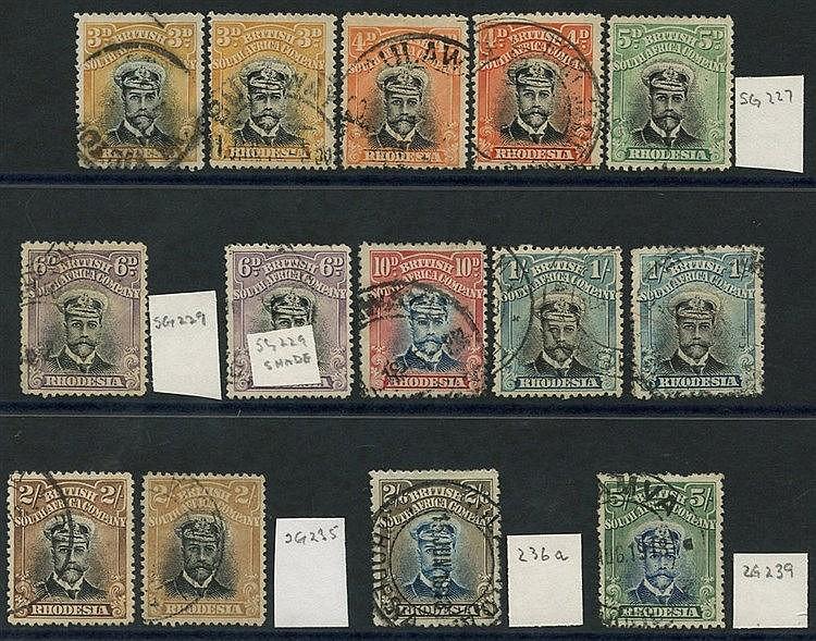 1913-22 Admirals Die II Perf 14 vals as follows: 3d (2), 4d (2),