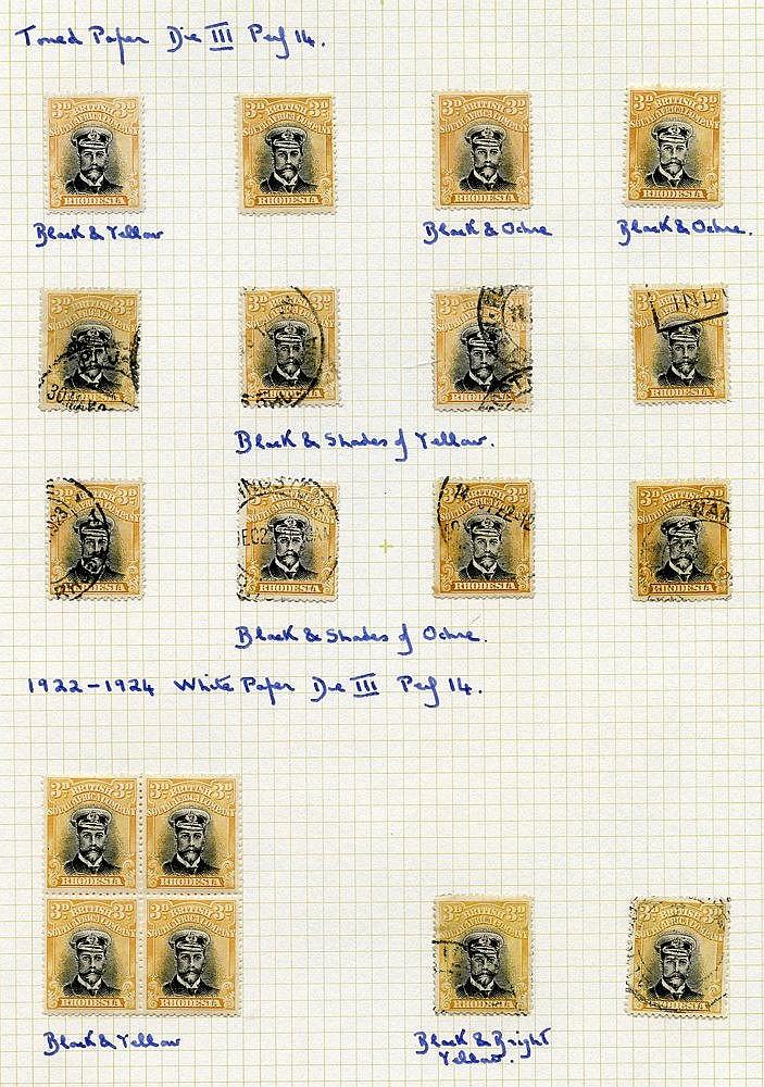 1913-22 Admirals range on 8 album leaves comprising the three Die