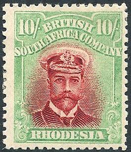 1913-22 Die II Perf 14, 10s Admiral M, SG.241. (1) Cat. £200