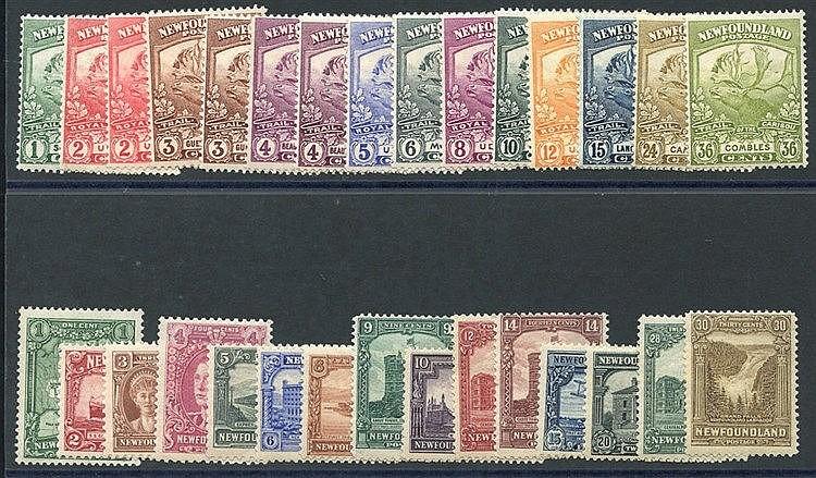 1919 Contingent set, fine M, SG.130/141, 1928 Publicity set, fine