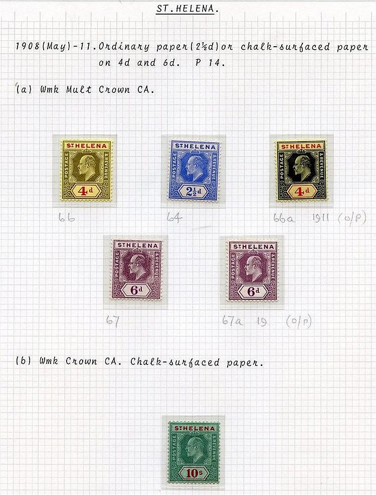 1902 ½d & 1d SG.53/4, 1903 CCC set SG.55/60, 1908-11 MCCA/CCA set