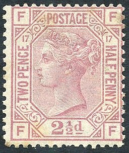 1876 Wmk Orb 2½d rosy mauve Pl.17 M example, creased (possibly re