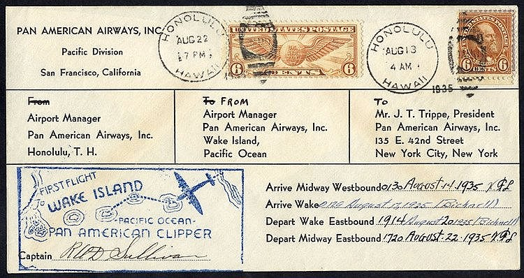 1935 P.A.A survey flight Honolulu/Midway/Lake/San Francisco compa