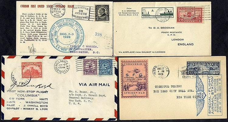 1926-32 first flight covers (4) - 1926 CAM 2 Special State Fair f