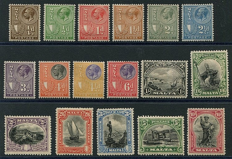 1926 Postage Defin set, M (1/6d few short perfs), SG.157/172. (17