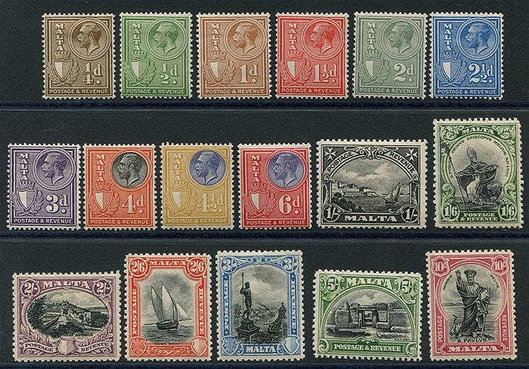 1930 Postage & Revenue set, fine M, SG.193/209. (17) Cat. £225