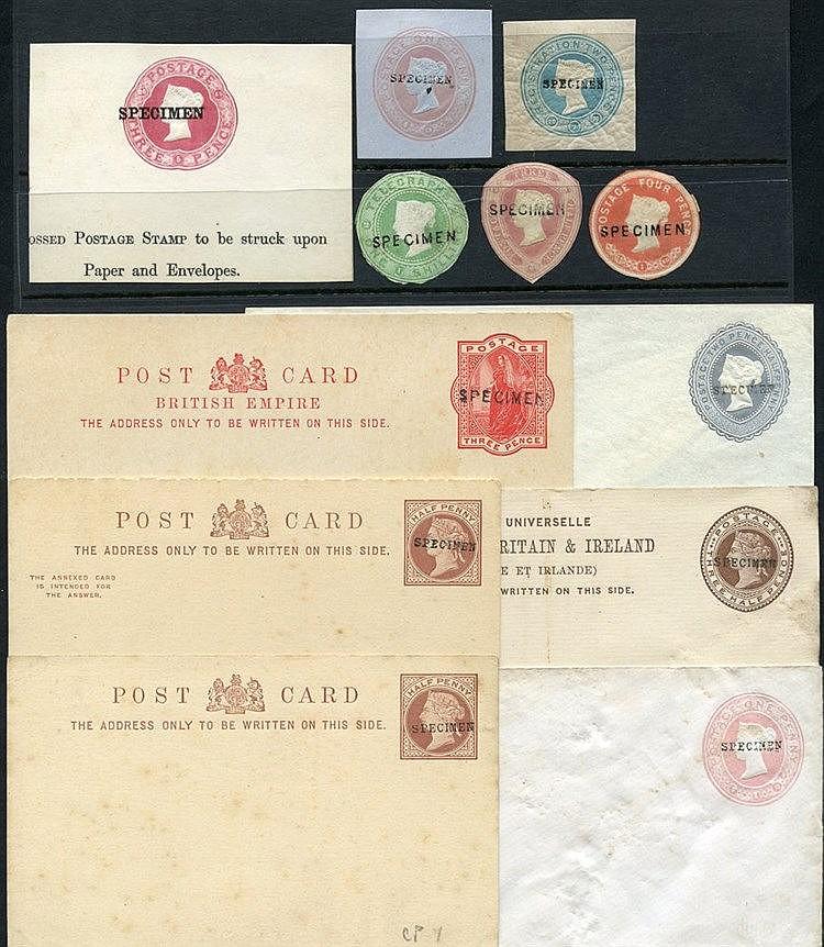 QV selection of 16 unused postcards, envelopes, registered letter