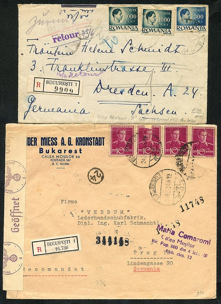 c1929-40's covers & cards with airmail, registered, censored etc.