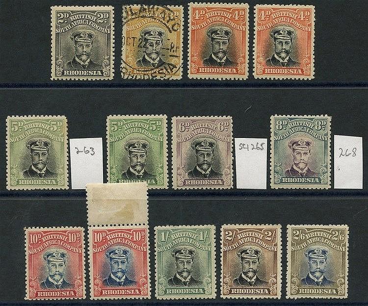 1913-22 Die III Perf 14 Admirals, U selection incl. 2d, 3d (2), 4