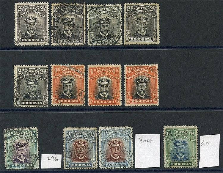 1922-24 Die III Perf 14 Admirals, selection incl. 2d (5), 4d (3),