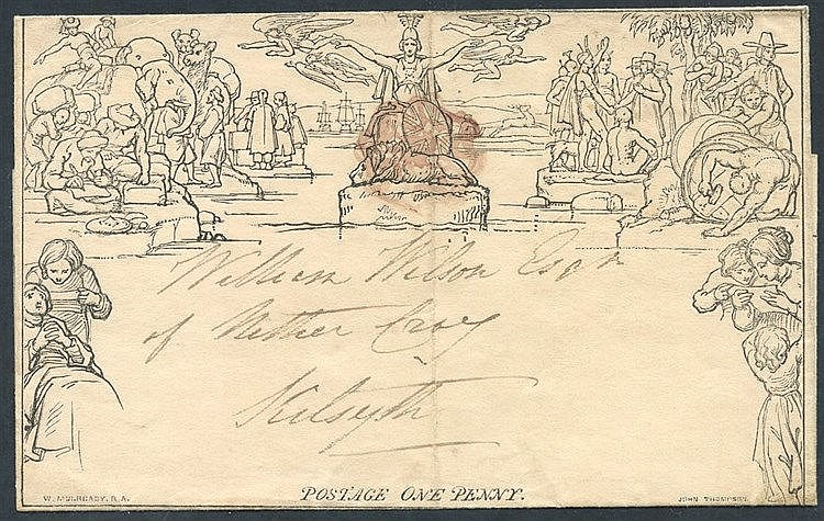 1840 July 11th One Penny Letter Sheet, Stereo A65, from Glasgow t