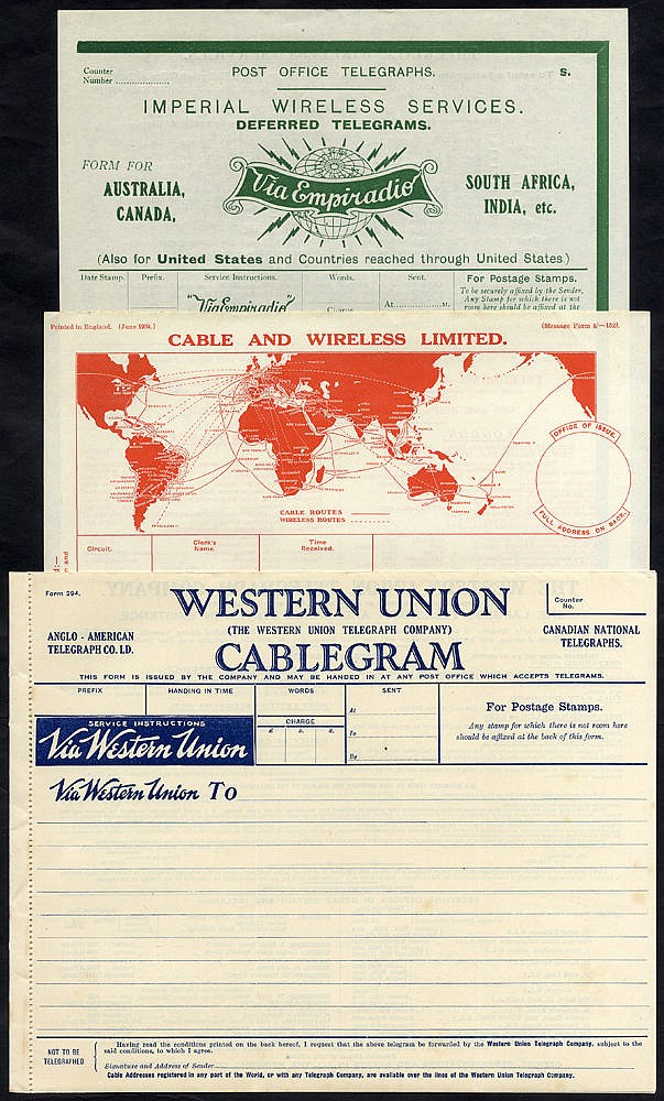 Telegrams - selection of 24 mainly used plus 5 brochures. Post Of