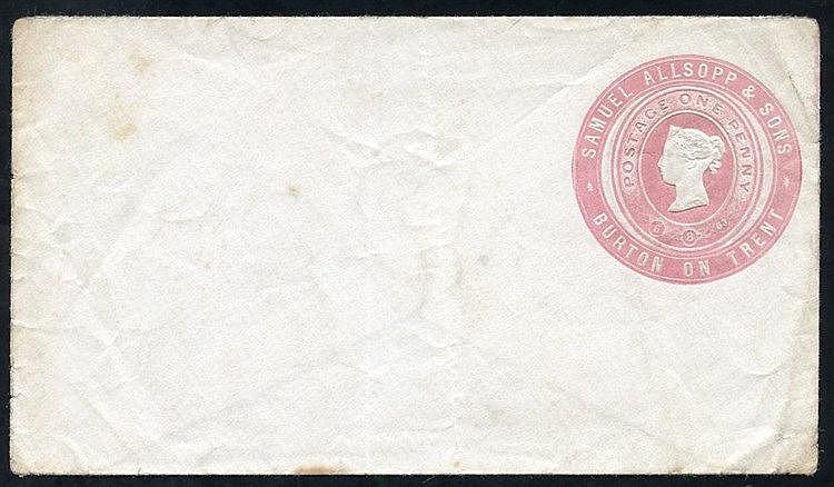 Advertising Rings QV 1d pink Samuel Allsopp & Sons, Burton on Tre