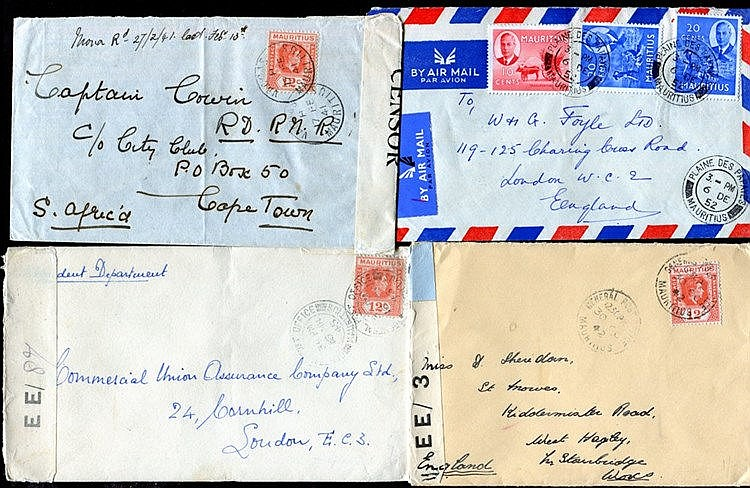 1895 group of commercial covers with 1895 six stamp franking & an