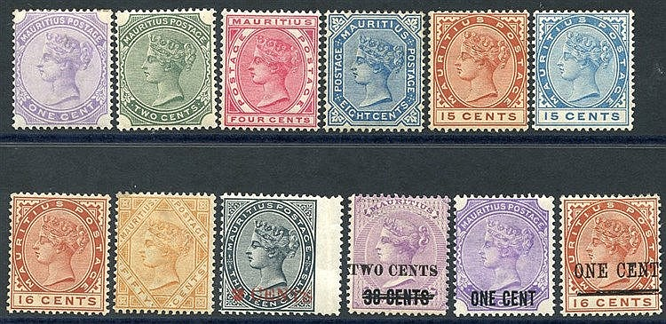 1883-94 CCA 1c to 50c incl. both 15c, plus 1887 2c on 13c slate