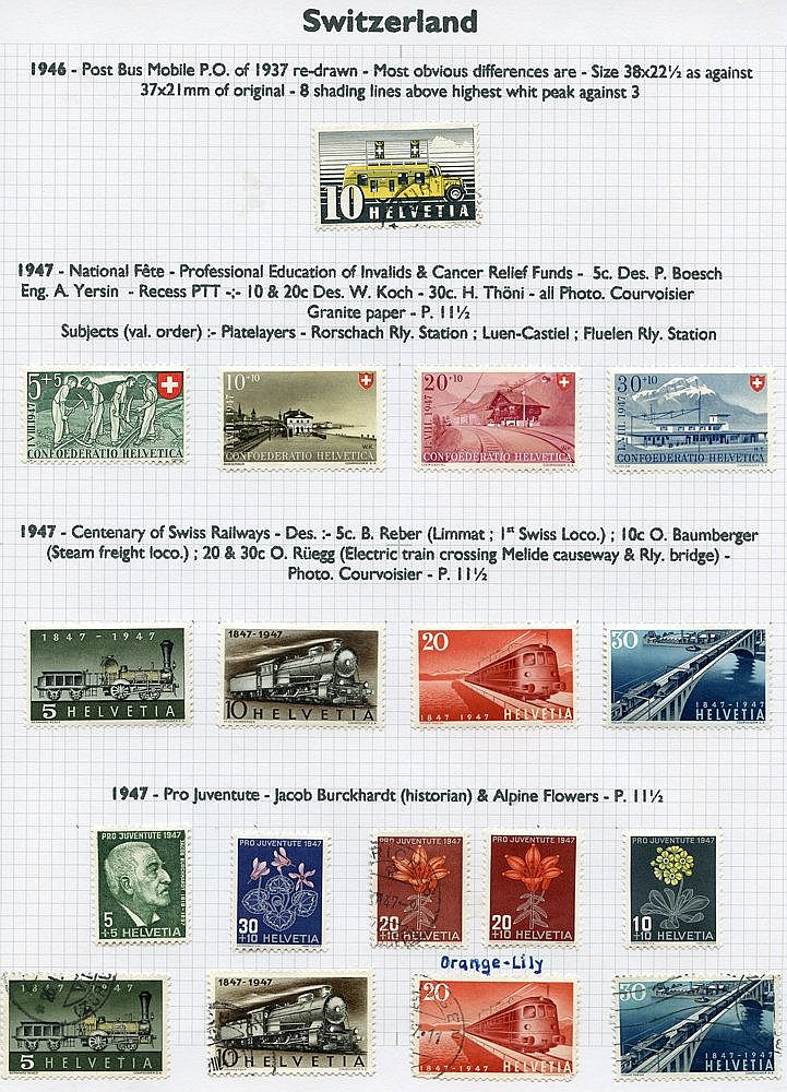 1854-1999 collection of M & U (1417 stamps) + a few covers housed