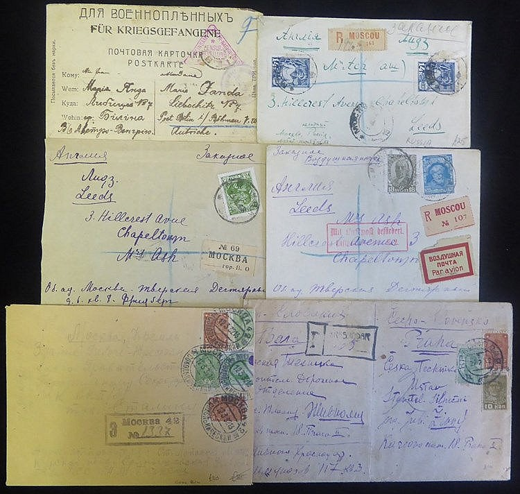 1920's issues on cover incl. a good variety of registered items (