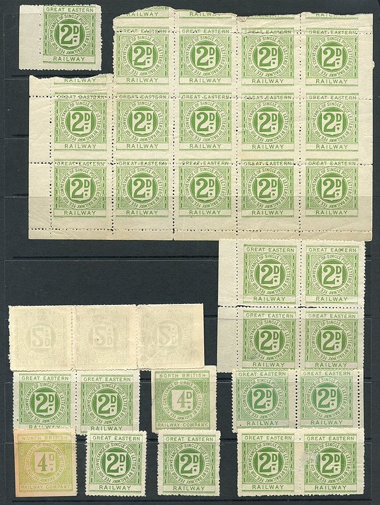RAILWAY LETTER STAMPS selection of 186 mainly unused or M, variou
