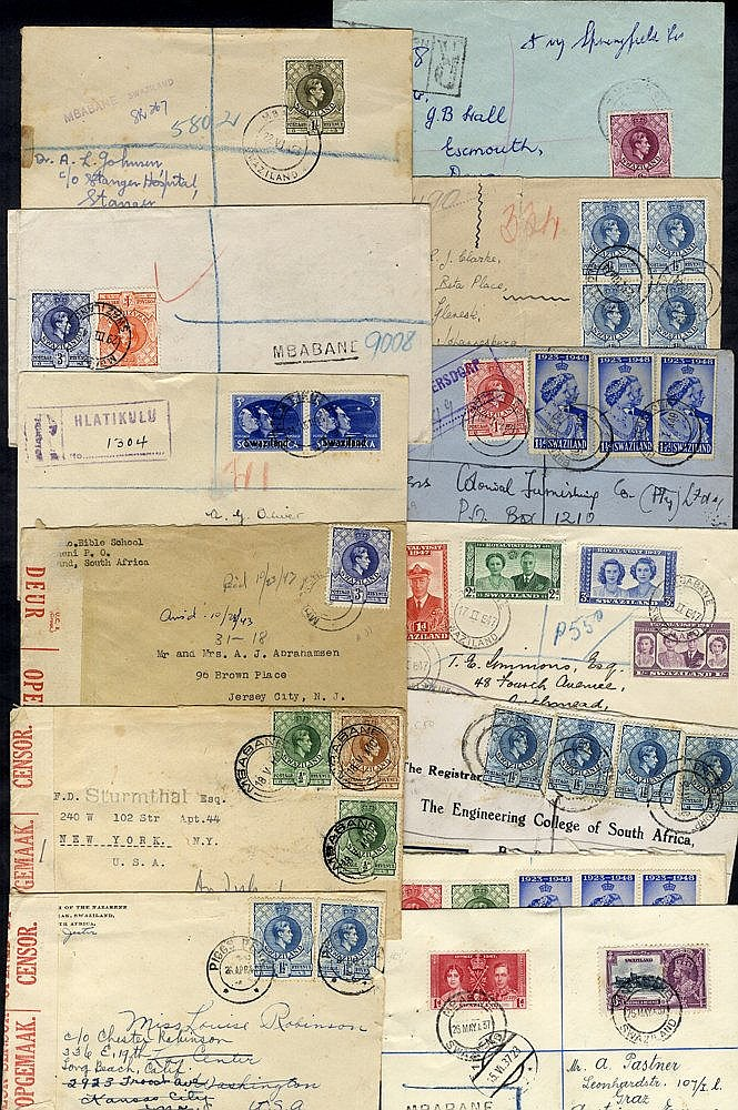 1937-51 range of 17 covers incl. three censored. Balance are all