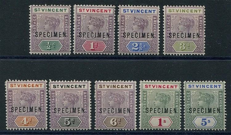 1899 CCA set, optd SPECIMEN, fresh appearance, SG.67s/75s. (9) Ca