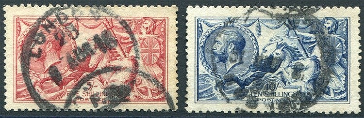 1915 DLR 5s & 10s, good to FU, SG.409 & 412. (2) Cat. £1275