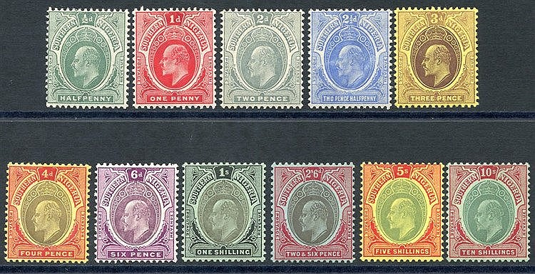 1907-11 Colours Changed MCCA set to 10s M, SG.33/43. (11) Cat. £2