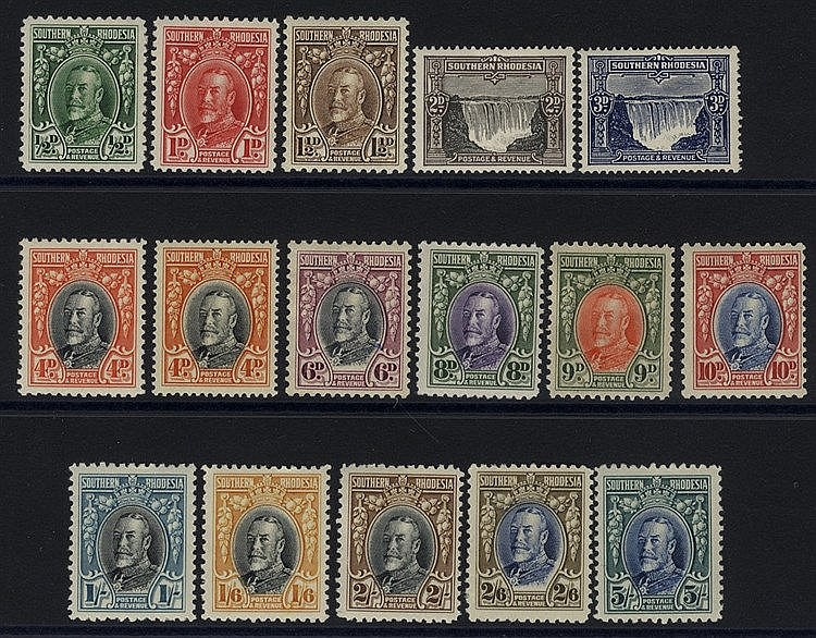 1931 KGV Defin set, M (2/6d thinned), SG.15/27 + extra 4d. (16) C