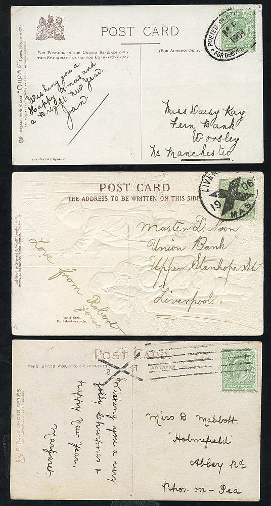 1904-07 POSTED IN ADVANCE FOR DELIVERY ON CHRISTMAS DAY 3x PPC's