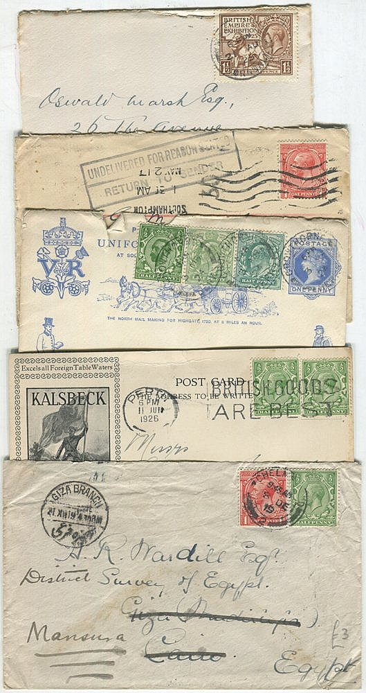 1912-30's range of covers or postcards (131) incl. advertising, c