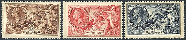 1934 Re-engraved set, fine M, SG.450/452.