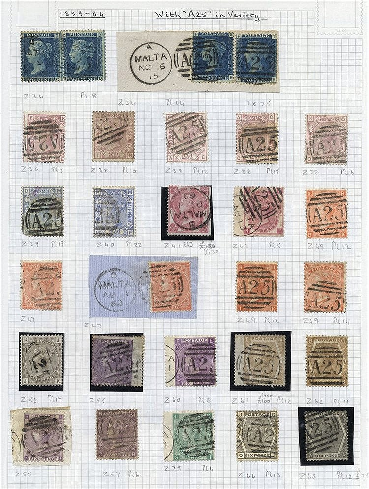 QV-QEII M & U collection housed in a Crown album commencing with