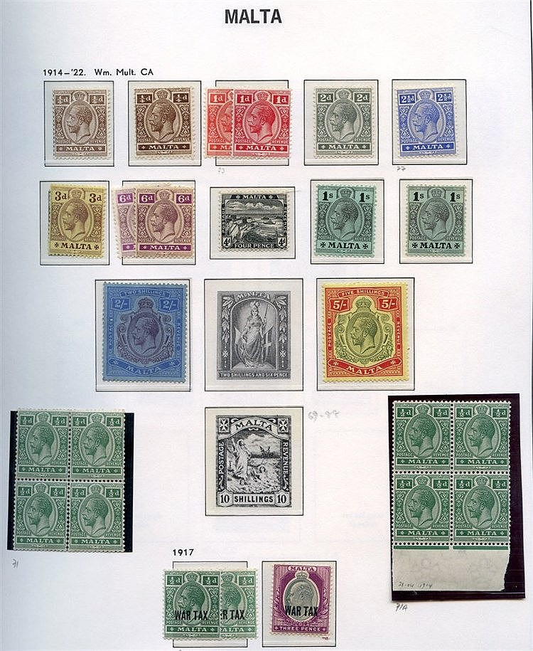1860-2001 M or UM collection housed in a Davo hingeless album, hi