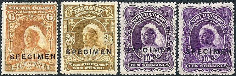 1897-98 6d (a few perfs thinned at top), 2/6d, 10s deep violet