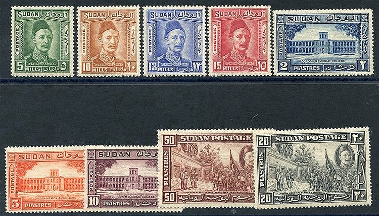 1935 Gordon set M (gum toning) SG.59/67 (9) Cat. £130
